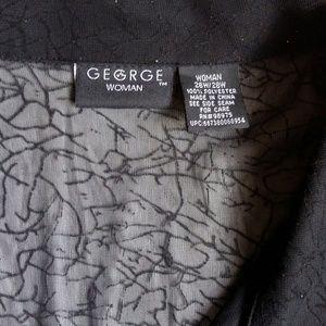 George Tops - George Woman Sheer Black Shimmery Blouse 26W/28W